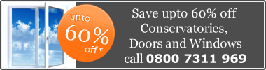 Save up to 60% off Conservatories, Doors and Windows. Call 0800 7311 969